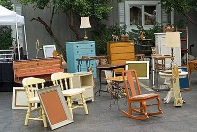 variety of antique furniture