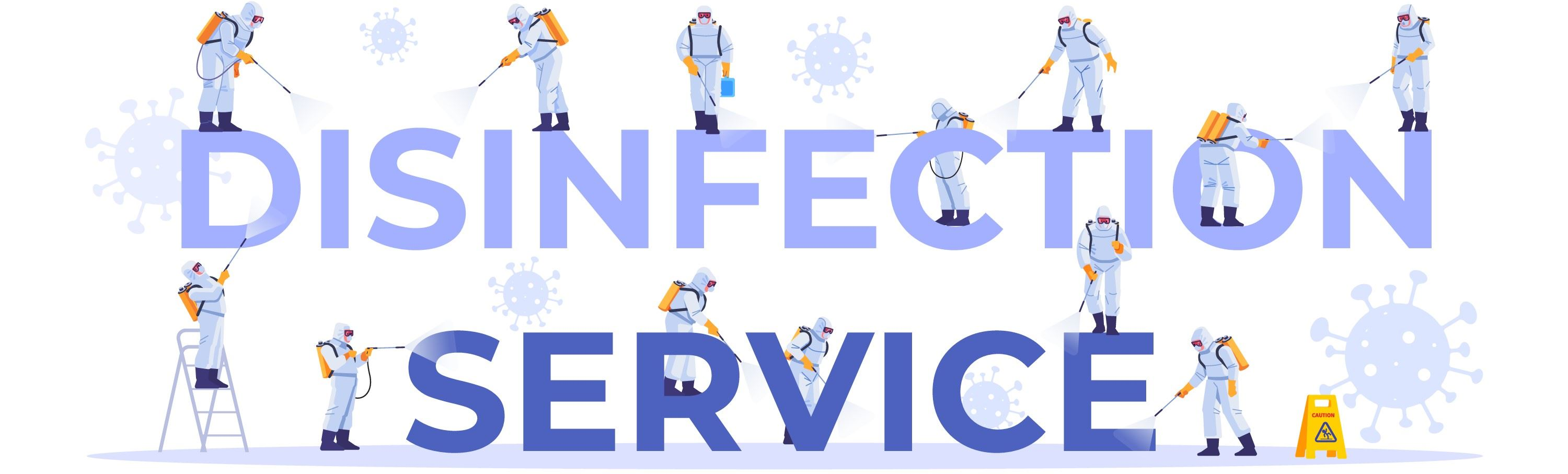 Banner Saying: Disinfection Service
